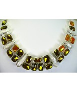 Fire Topaz Gold and Yellow faceted with BIWA Pe... - $377.00