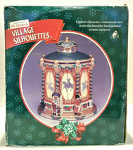 Mr. Christmas Village Silhouettes Ceramic Carousel Tested Working - $60.00