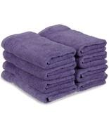 8-pc Royal Purple Superior 600 GSM Long Staple Cotton Hand Towel Set - $42.52