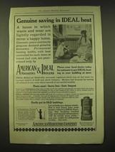 1918 American Radiator Company American Radiators & Ideal Boilers Ad - Genuine  - $14.99