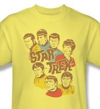 Star Trek cartoon T-shirt vintage retro original cast cartoon 100% cotton cbs938 image 1