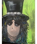 ONE OF A KIND ICONIC SLASH GUNS AND ROSES 12X16 ACRYLIC. PERFECT 4 MAN CAVE - $94.95