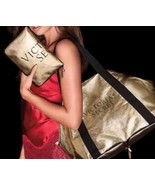 Victorias Secret Packable IT Limited Edition Gold Weekender Duffle Bag NWT - $39.55