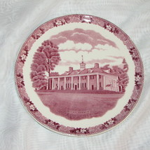 PINK TRANSFERWARE PLATE ADAMS OLD ENGLISH STAFFORDSHIRE MULBERRY MOUNT V... - $16.99
