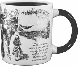 ALICE IN WONDERLAND Mug Heat Activated Transforming Disappearing Cheshire Cat  image 3