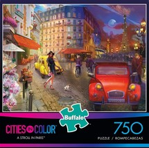 NEW Buffal Games  A Stroll in Paris  750 Piece Jigsaw Puzzle play kids table - $21.48