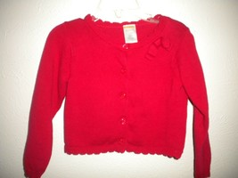 Gymboree Size 18-24 Months Red Button Front Baby Girls Cardigan Sweater - $9.90