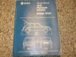 1978 Dodge Omni Plymouth Horizon Service Shop Reparatur Manuell Advanced... - $7.79