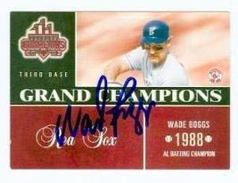 Wade Boggs autographed baseball card (Boston Red Sox) 2003 Donruss Champions #GC - $25.00