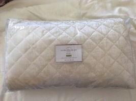 Pottery Barn Nia Velvet Quilt Set Ivory Queen 2 Standard Shams Diamond 3pc - $299.00