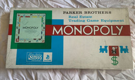 Vintage 1960s Monopoly Board Game Parker Brothers Classic Original Made In USA - $65.44