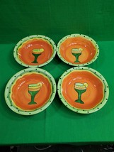 Ceramic Bowls ~ Set of Four (4) ~ Mexican Style ~ 8.5 Inches Diameter ~ New - $19.75