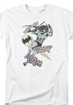 Batman Swoosh Pow Bam DC Comics Superhero Retro Distressed Graphic tee BM2573 image 2