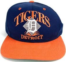 VTG Signatures Men's Blue Detroit Tigers Snap Back MLb Baseball Cap Hat ... - $43.56