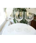 "Set of 3 Elegant High Quality Long Stem Wine Goblets 8 1/4"" Tall - $24.75"