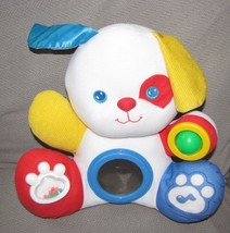 1993 Fisher Price Discovery Puppy Plush Baby Activity Rattle Mirror Sque... - $31.67
