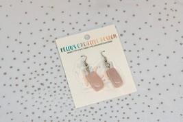 Pink Gem Hook Earrings | Dangle Earrings | Silver Jewelry | Silver Earrings - $16.50