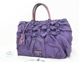 Authentic PRADA Purple Nylon Tote Hand Bag Purse #32804 - $235.00