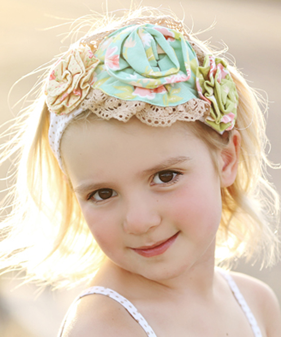 Primary image for Mustard Pie Andalusia Yellow Flora Rosette Headband Girls MSRP$ 29.99 SAVE$ 8