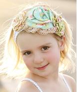 Mustard Pie Andalusia Yellow Flora Rosette Headband Girls MSRP$ 29.99 SA... - $20.99