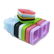 24 Pieces Thicken Colorful Square Durable Plastic Plant Flower Pots With... - €9,13 EUR