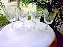 Set of 4 Noritake Heritage Pattern Clear Crystal Water Goblets - $39.60