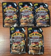 5 Packs McCormick Grill Mates Southwest Chipotle Sauce Steakhouse Burger 2.83oz - $32.99