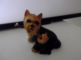 Vintage Yorkshire Terrier Dog With Puppy - House Of Global Art - Japan 7... - $19.79