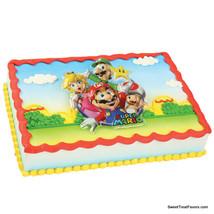 Mario Bros Party CAKE Topper Decoration Plac kit Birthday Cupcake Ninten... - $9.85