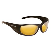 Fly Fish Cape Horn Sunglasses Mt Black/Yellow Amber - $23.49