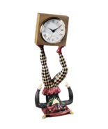 SCULPTURAL CLOWN CLOCK 13 inch Tabletop Figurine Statuette Circus Joker ... - $74.99