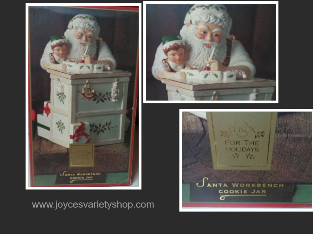 Santa workshop lenox cookie jar collage