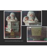 """Lenox 12"""" Tall Holiday Vintage Santa Workshop Cookie Jar NIB - $49.99"""