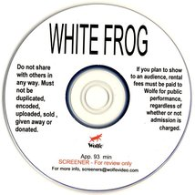 White Frog SCREENER DVD No Case - Wolfe Video Gay Interest - Tyler Posey... - $4.99