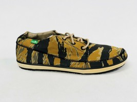 Sanuk Men Cassius Camo Tiger Camo Rust Lace Up Boat Shoe Loafers SMF11025 Size 9 - $39.99