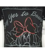 Disney Parks Womens Say Yes to Bows Minnie Mouse Graphic T-Shirt XS Extr... - $19.99