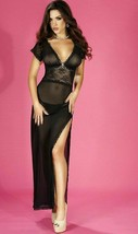 Sheer Mesh lange Spitze Nachtkleid Hemd Größe S / M Sexy Schlaf Kleid - $11.72