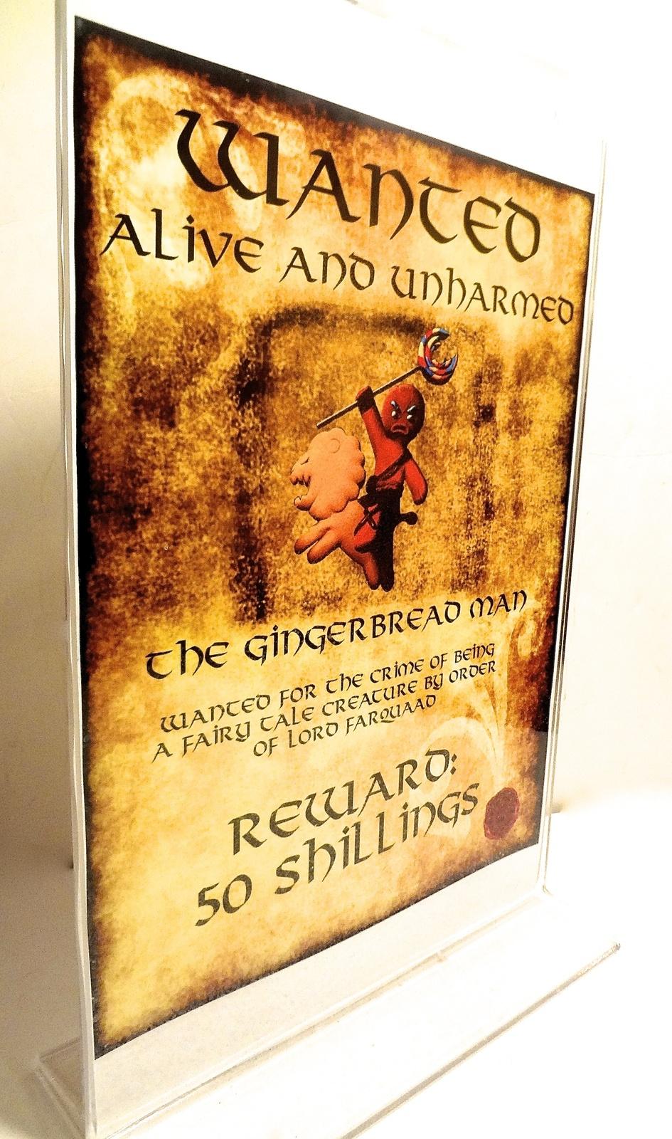 Shrek Gingerbread Man Wanted Poster Custom And 13 Similar Items
