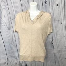Liz Claiborne Petite Top, PXS, Cowl Neck, Cream, Short Sleeve, Rayon Blend - $12.99