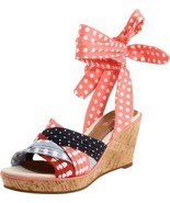 Sperry Top Sider Women's Size 6 Santa Rosa Wedge Sandals Lace Up Woven P... - $625,04 MXN