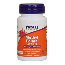 Methyl Folate, 1,000 mcg, 90 Tabs by Now Foods - $9.74