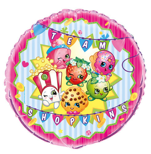 "Shopkins Foil Balloon Metallic 18"" Birthday Party"