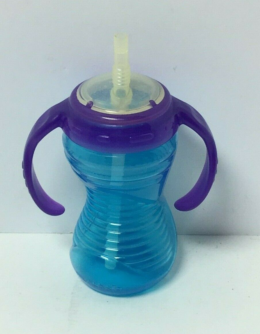 10OZ MUNCHKIN BLUE/PURPLE PLASTIC SIPPY CUP, FREE SHIPPING