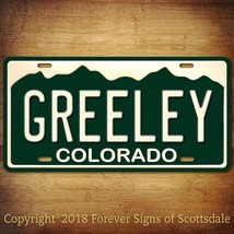 Greeley Colorado City State College Aluminum Vanity License Plate - $12.82