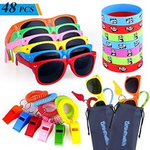 48pcs Party Favors for Kids, Goody Bag Stuffers in Bulk - 12 Kids Sunglasses, 12