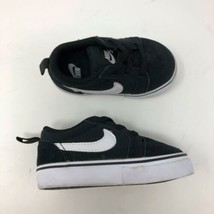 Nike Cortes Athletic Sneakers Boys Baby 4C Black Slip On Laces - $16.36