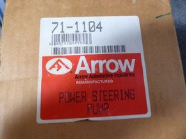 Power Steering Pump Remanufactured By Arrow P/N  71-1104, Chevy 1963-1974 image 2