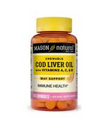 3 PCK Cod Liver Oil Vitamin A,C & D 100 Chewable TB each bottle by Mason... - $22.76