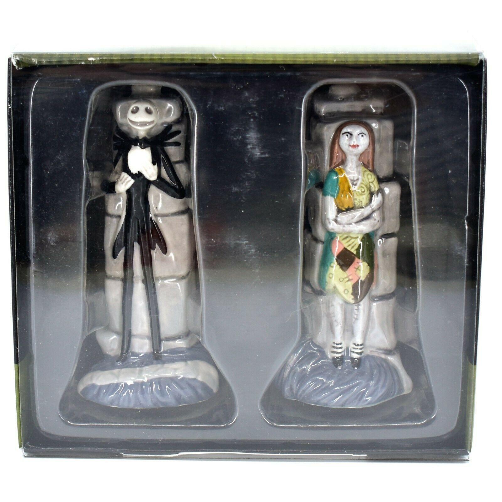 Enesco Nightmare Before Christmas Jack Skellington & Sally Salt Pepper Shakers