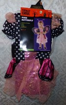 Pink Butterfly Halloween Costume Girls New 2T 4T Fairy Fancy Toddler Infant - $25.05